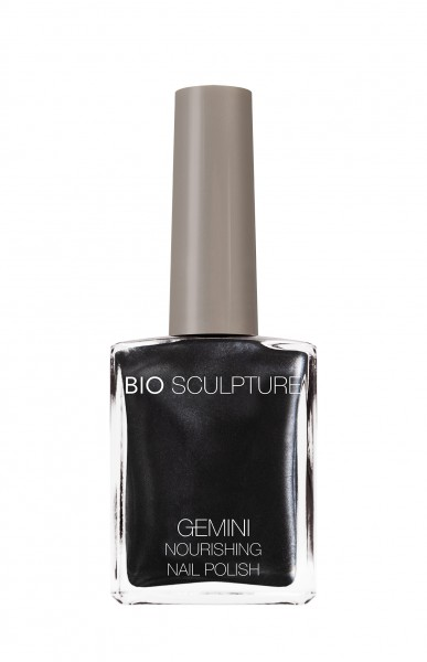 Bio Sculpture, Gemini, Nagellack, Farblack, Dunkel, Grau, Schwarz CAST IRON 14 ML