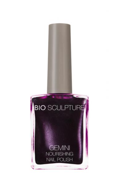 Bio Sculpture, Gemini, Nagellack, Farblack, Lila BLACK AUBERGINE 14 ML